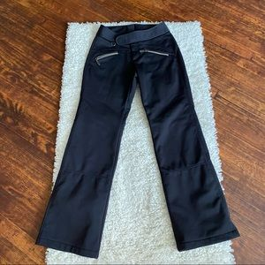 Athleta Black Fall Line Skin Snow Pants SZ 2 Read